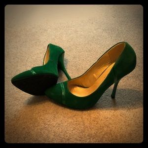 Shoe Republic Velour Pumps